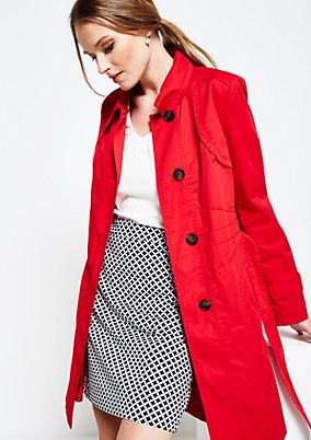 Classic spring coat with smart details from s.Oliver