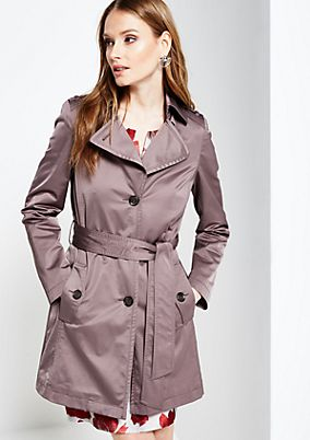 Smart all-weather coat with a wide fabric belt from s.Oliver