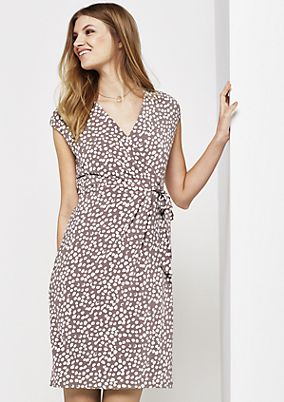 Lightweight, jersey dress with a beautiful all-over print from s.Oliver