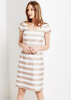Elegant business dress in a classic striped look from s.Oliver