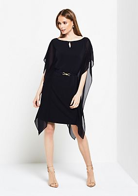 Extravagant evening dress with wing sleeves from comma