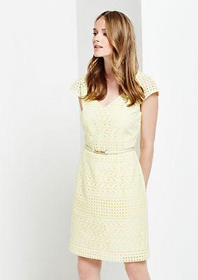 Cotton dress with a decorative openwork pattern from s.Oliver