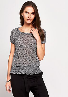 Delicate mesh top with a decorative minimal pattern from s.Oliver