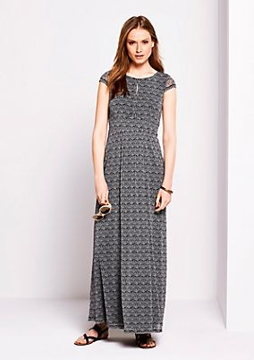 Mesh maxi dress with a decorative all-over pattern from s.Oliver