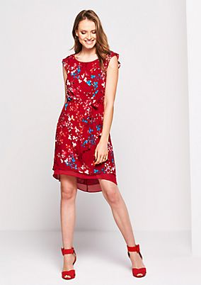 Crêpe summer dress with a colourful pattern from s.Oliver