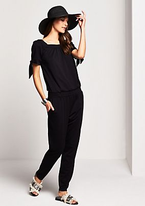Jersey jumpsuit with short sleeves from comma