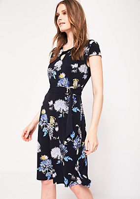 Casual jersey dress with an all-over print from s.Oliver