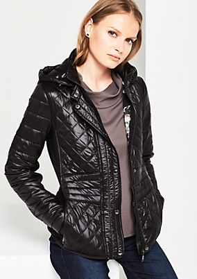 Extravagant quilted jacket with fabric inserts from s.Oliver