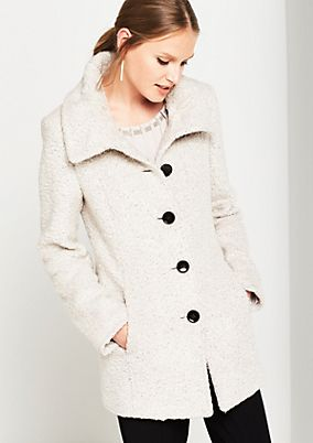 Warm coat in soft bouclé from comma