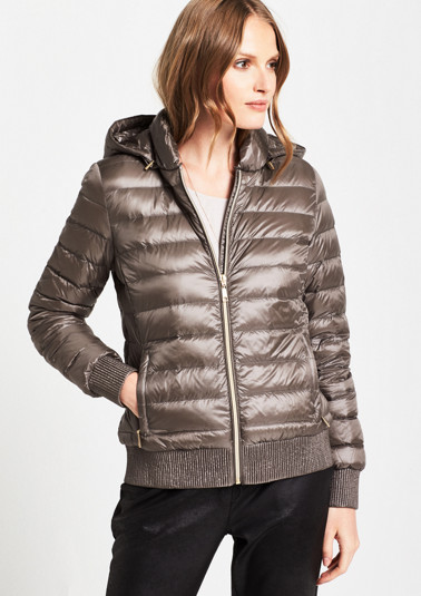 Lightweight quilted jacket with a hood from comma