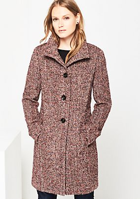 Warm coat in a tweed finish from comma