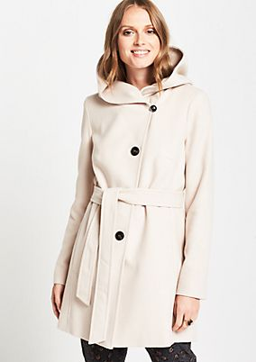 Soft winter coat with a hood from comma