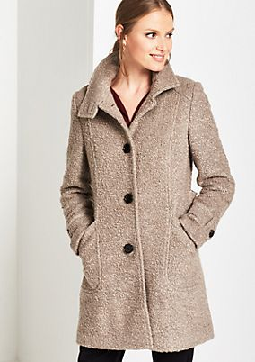 Soft autumn coat in bouclé from comma