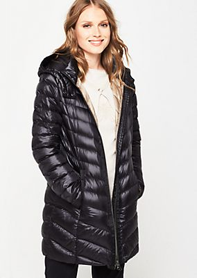 Lightweight down coat with a hood from s.Oliver