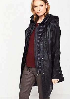All-weather coat with a button-off quilted body warmer from comma