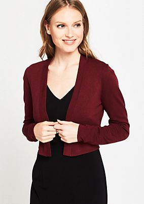 Cropped cardigan with long sleeves from s.Oliver