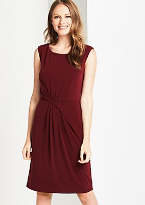Elegant casual dress with decorative pleating from s.Oliver