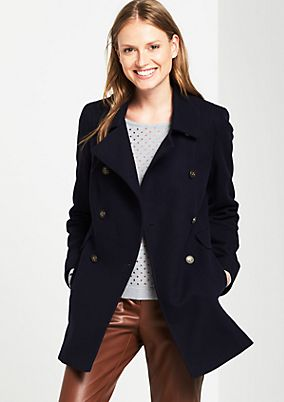Double-breasted wool jacket from s.Oliver