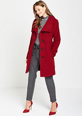 Wool coat with sophisticated details from comma