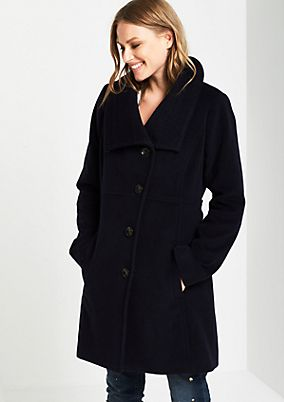 Wool coat with sophisticated details from s.Oliver