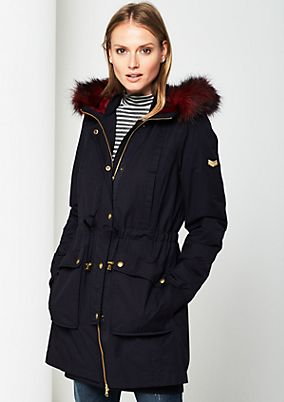 Warm winter parka with a hood from s.Oliver