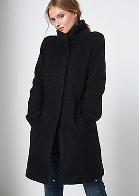 Soft bouclé winter coat from s.Oliver