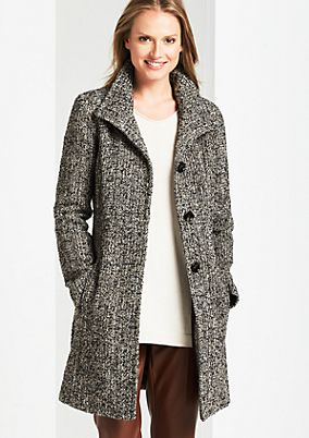 Winter coat in a fine tweed look from comma