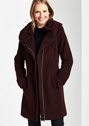 Soft winter coat with a stand-up collar from s.Oliver