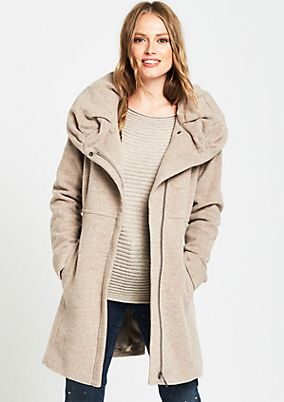 Soft winter coat with a stand-up collar from comma