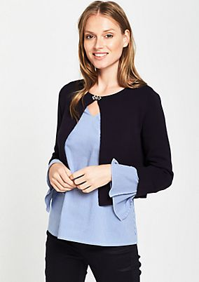 Fine knit bolero with 3/4-length sleeves from s.Oliver