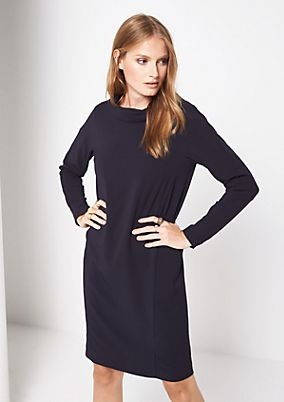 Lightweight crêpe dress with fine details from s.Oliver