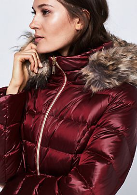 Soft down jacket with a hood from comma