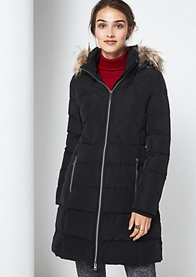 Warm winter coat with a hood from comma
