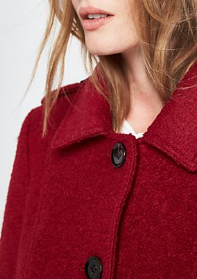 Wool coat with a fake fur collar from comma