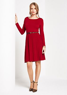 Soft knit dress with a belt from comma