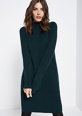Warm knit dress with sophisticated details from comma