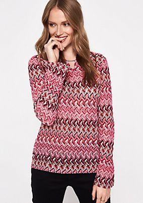 Strickpullover mit Two-Tone Muster