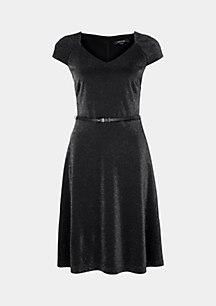 Elegant evening dress in sparkling yarn from comma