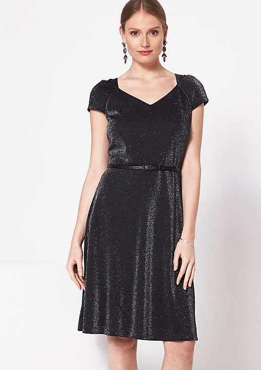 Elegant evening dress in sparkling yarn from comma