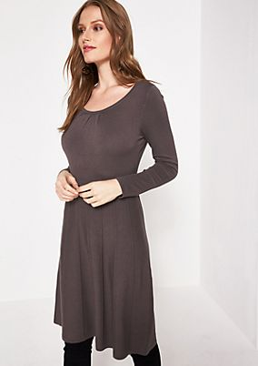 Elegant knit dress in a mix of patterns from comma