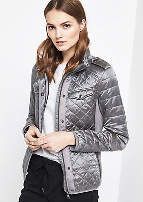 Lightweight quilted jacket with fabric inserts from comma