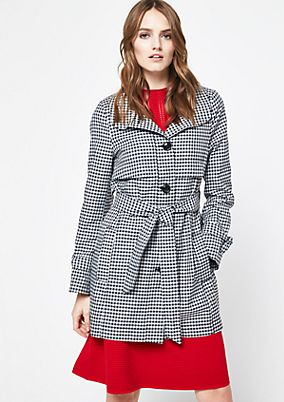 Trench coat with a check pattern from comma
