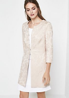 Extravagant 3/4-sleeve frock coat with an elegant jacquard pattern from comma