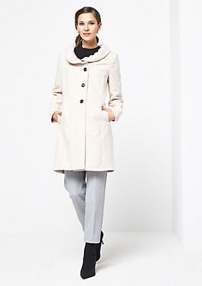 Soft winter coat with sophisticated details from comma