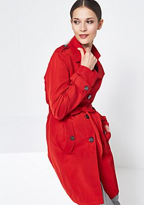 Classic trench coat with a wide fabric belt from comma