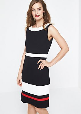Elegant evening dress with block stripes from comma