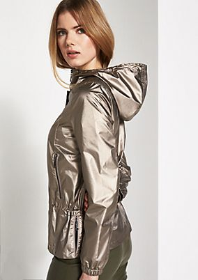 Hooded outdoor jacket with a gold sheen from comma