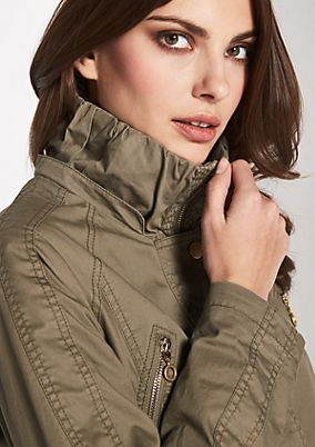 Outdoor coat with a detachable hood from comma