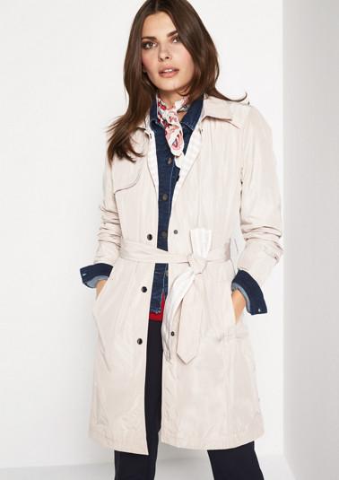 Lightweight poplin coat with a belt from comma