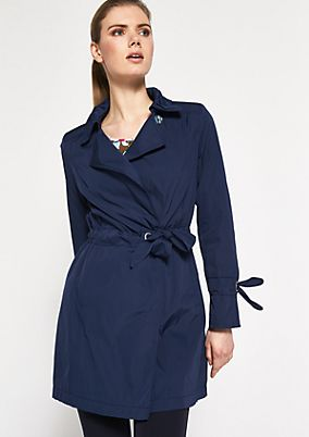 Lightweight twill coat with a belt from comma